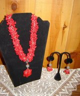 Beautiful Red Coral Necklace Earrings in Alamogordo, New Mexico