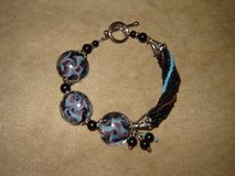 Lampwork Beads Sterling Silver Bracelets in Ruidoso, New Mexico