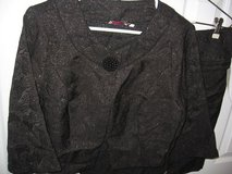 2 piece Black Shimmer Cocktail Suit size M/L NWT!! in Fort Benning, Georgia