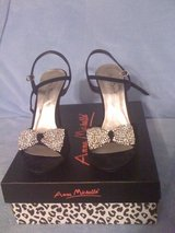 REDUCED!New,Black Sandales with Diamons,Anne Michelle,sz.8 in Leesville, Louisiana